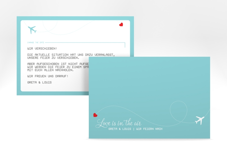 "Change the Date-Karte ""Weddingpass"" A6 quer"