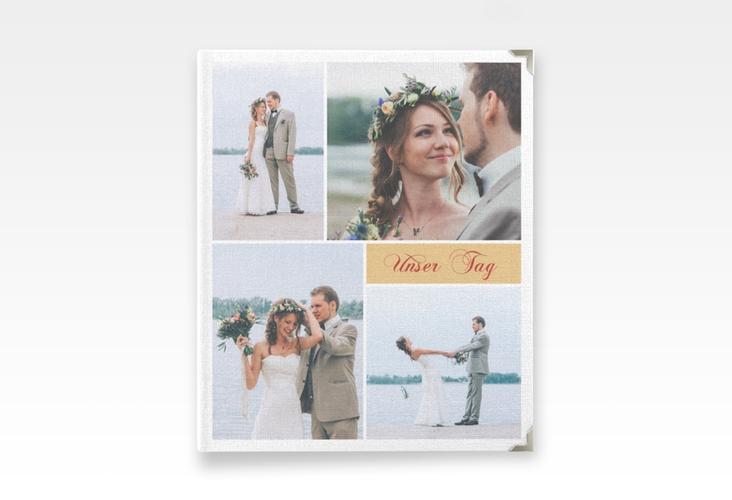 """Hochzeitsalbum """"Collage"""" 21 x 25 cm apricot"""
