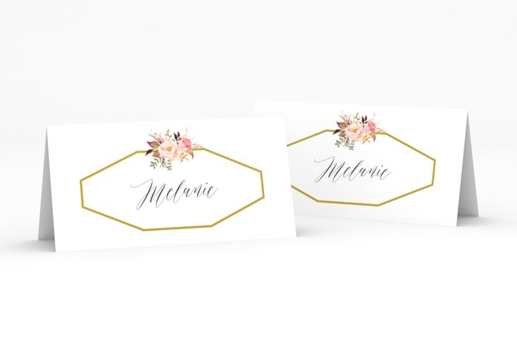 """Tischkarte Hochzeit """"Prachtvoll"""" Tischkarten weiss"""