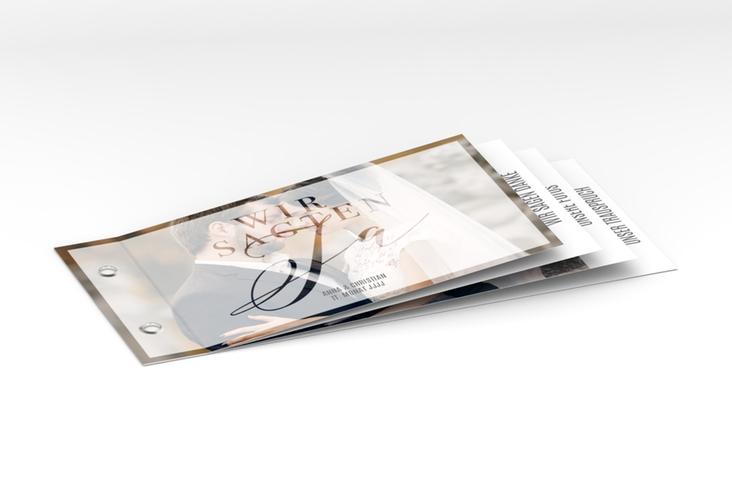 """Danksagungskarte Hochzeit """"Amazing"""" Booklet weiss"""