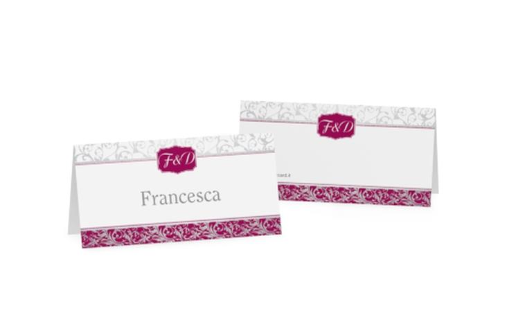 Segnaposti matrimonio collezione Latina Tischkarten fucsia
