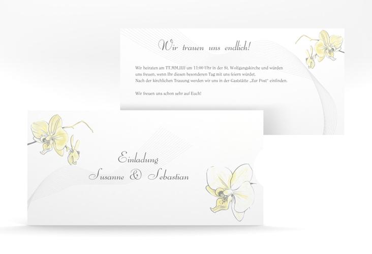 """Einladung Hochzeit """"Modena"""" Einsteckkarte gelb"""
