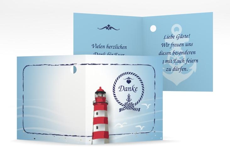 """Geschenkanhänger Hochzeit """"Sylt"""" Geschenkanhänger 10er Set blau"""