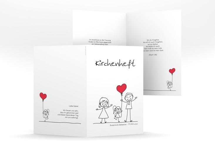 """Kirchenheft Hochzeit """"Familia"""" DIN A5 geklappt"""