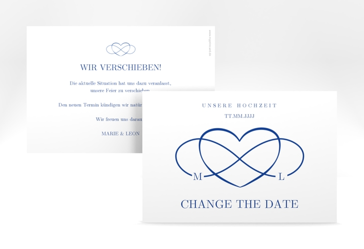 "Change the Date-Karte ""Infinity"" A6 quer"