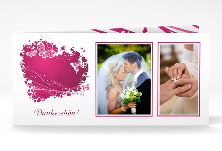 "Danksagungskarte Hochzeit ""Mailand"" DIN lang Klappkarte"