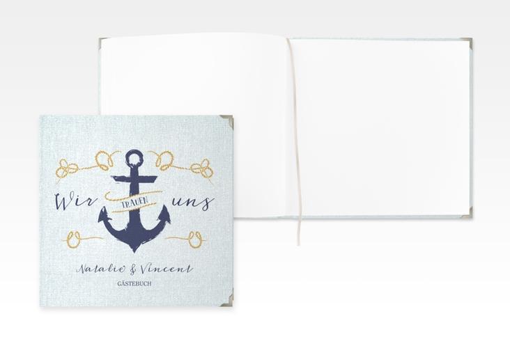 "Gästebuch Selection Hochzeit ""Anker"" Leinen-Hardcover"