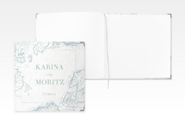"""Gästebuch Selection Hochzeit """"Voyage"""" Hardcover mint"""