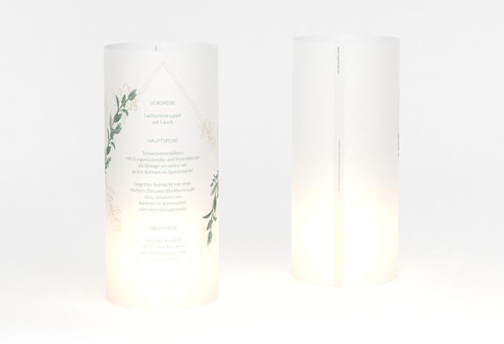 """Windlicht Menü Hochzeit """"Verde"""" Windlicht weiss"""