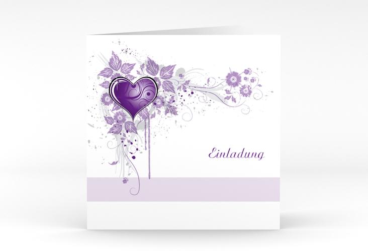 """Hochzeitseinladung """"Triest"""" Quadratische Klappkarte"""