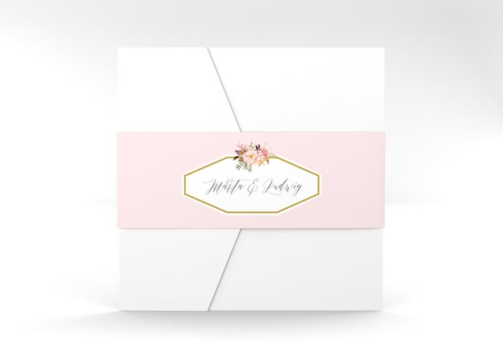 """Hochzeitseinladung """"Prachtvoll"""" Pocketfold rosa"""