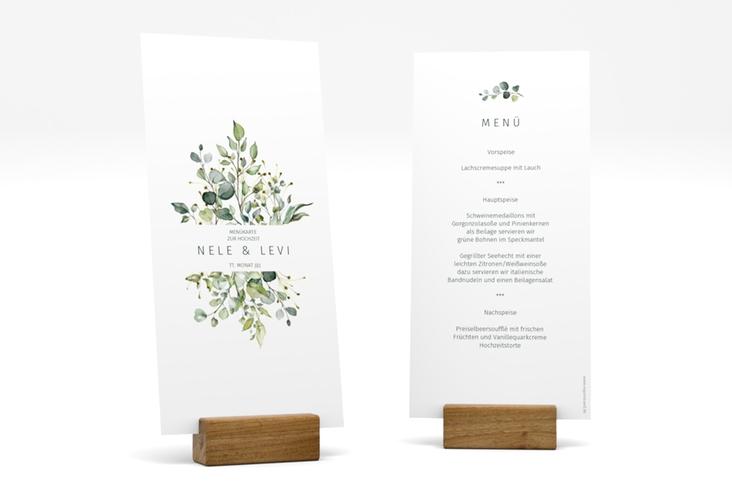 """Menükarte Hochzeit """"Enchanting"""" DIN lang hoch"""