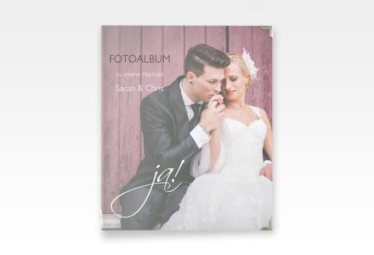 """Hochzeitsalbum """"Clarity"""" 21 x 25 cm weiss"""