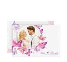 """Save the Date-Karte Hochzeit """"Schmetterlinge"""""""