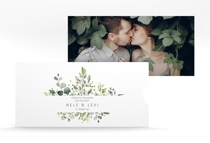 """Hochzeitseinladung """"Enchanting"""" Einsteckkarte weiss"""