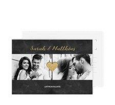 """Antwortkarte Hochzeit """"Sparkly"""""""