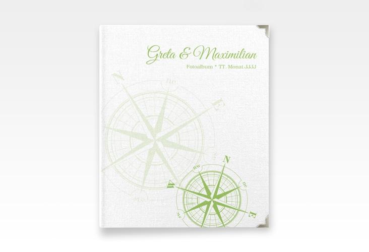 """Hochzeitsalbum """"Windrose"""" 21 x 25 cm gruen"""