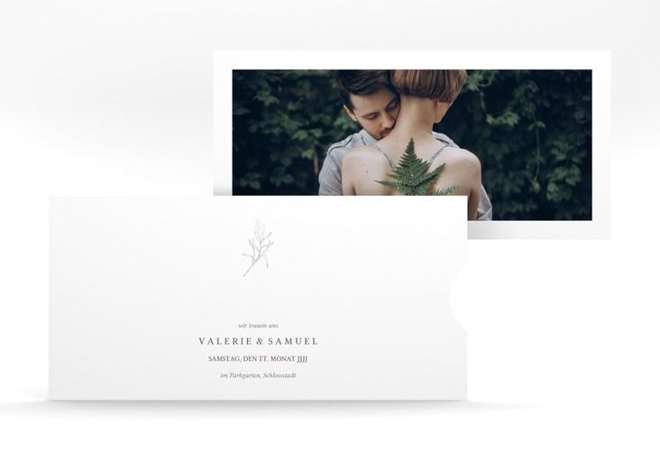 """Hochzeitseinladung """"Ivy"""" Einsteckkarte weiss"""