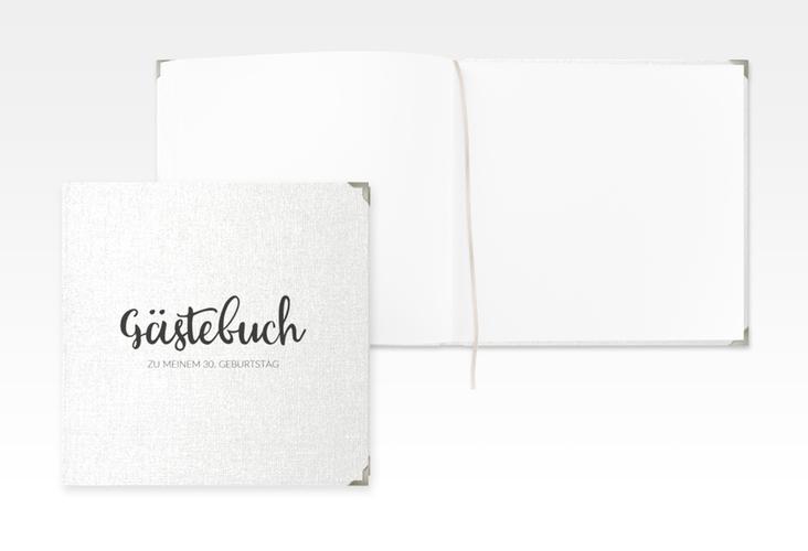 "Gästebuch Selection Geburtstag ""Handwriting"" Leinen-Hardcover"