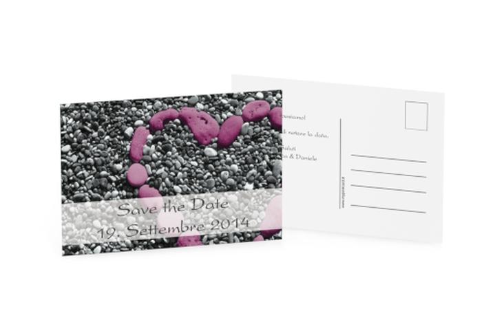 Biglietti Save the Date collezione Bilbao A6 Postkarte fucsia