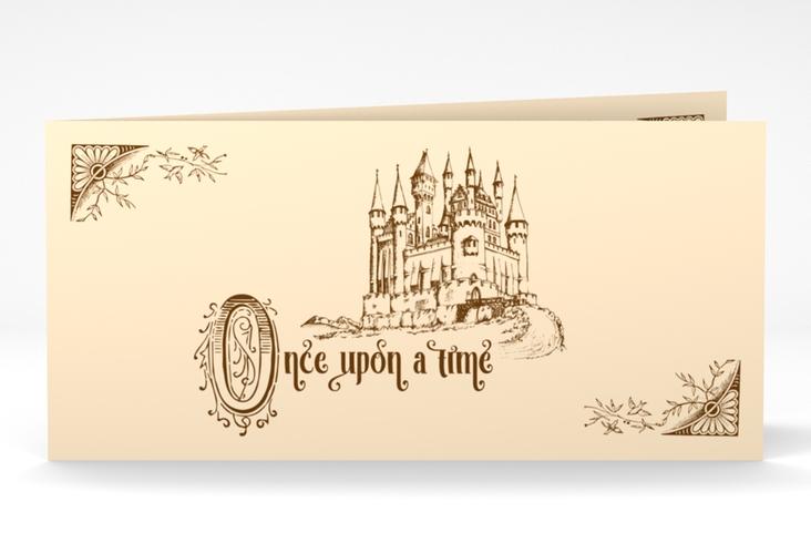 "Dankeskarte Hochzeit ""Storybook"" DIN lang Klappkarte"