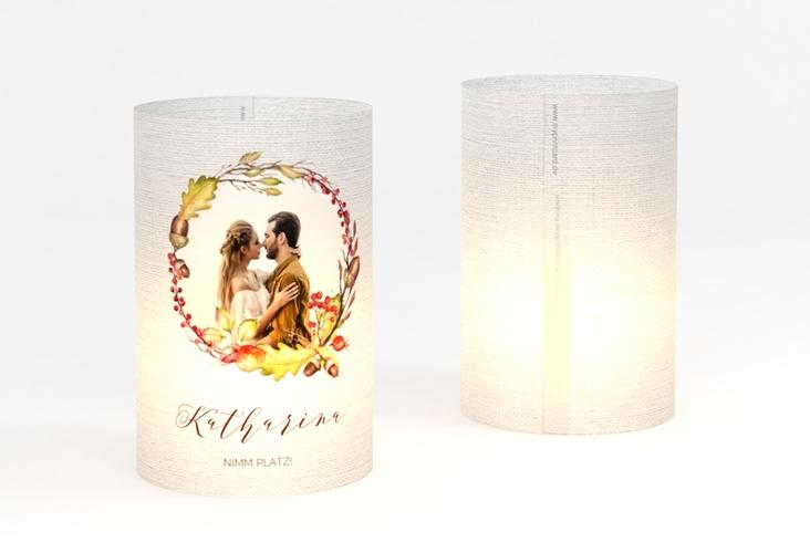 """Windlicht Hochzeit """"Herbstlich"""" Windlicht weiss"""