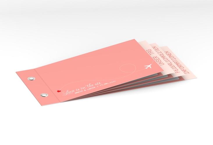 """Hochzeitseinladung """"Weddingpass"""" Booklet rosa"""