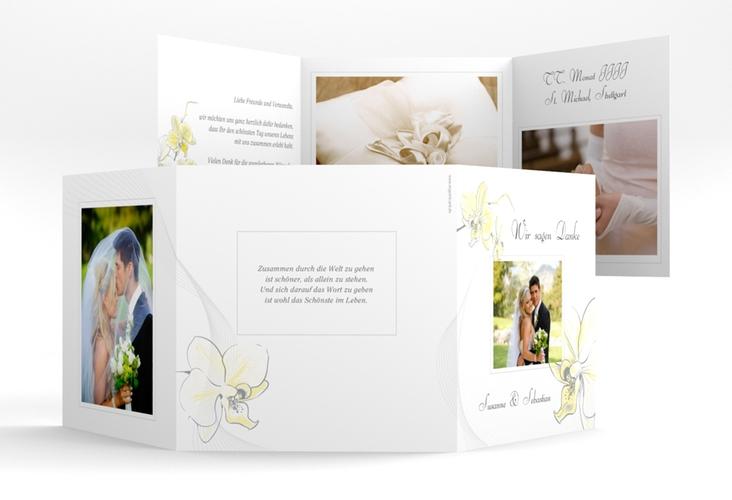 """Dankeskarte Hochzeit """"Modena"""" Quadr. Karte doppelt"""