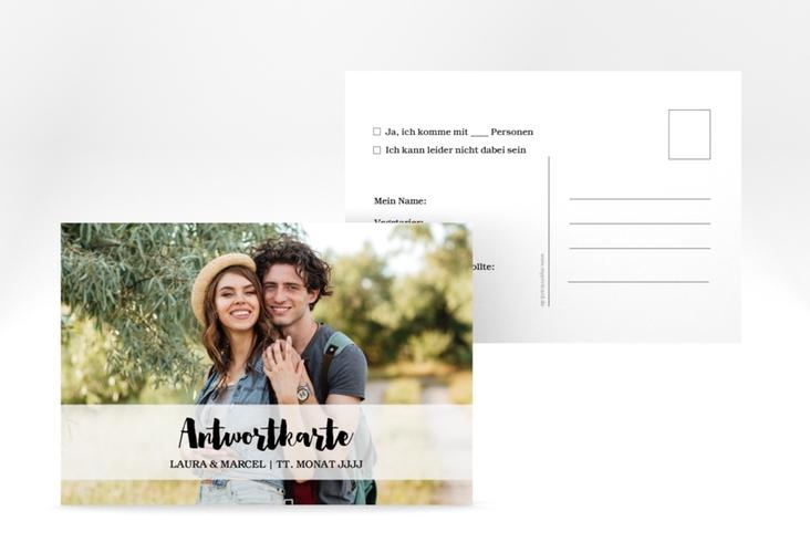 """Antwortkarte Hochzeit """"Mirage"""" A6 Postkarte"""