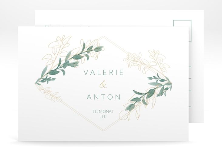 """Antwortkarte Hochzeit """"Verde"""" A6 Postkarte"""