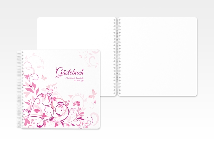 "Gästebuch Hochzeit ""Lilly"" Ringbindung"