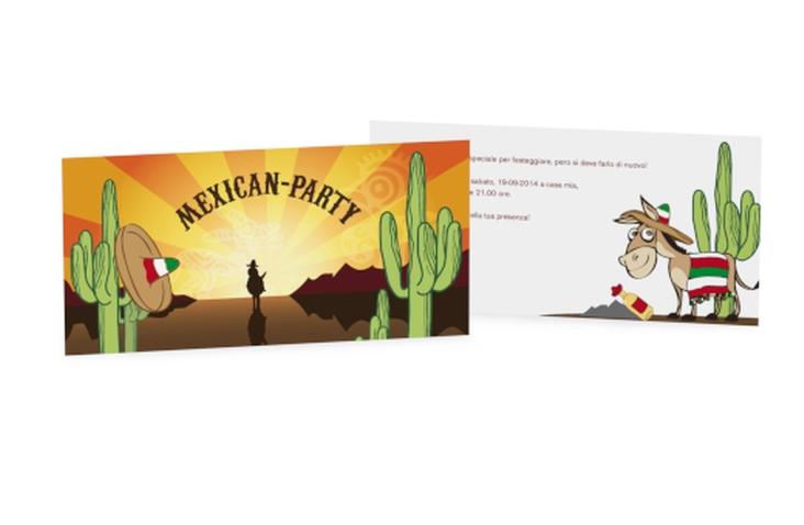 Biglietti di invito messicano DIN lang