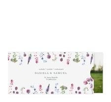"""Hochzeitseinladung """"Wildblumen"""""""