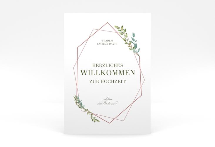 """Willkommensschild Poster """"Herbarium"""" 50 x 70 cm Poster rosa"""