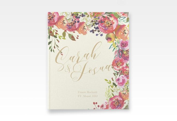 """Hochzeitsalbum """"Flowerbomb"""" 21 x 25 cm beige"""