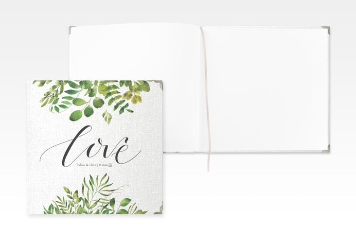 """Gästebuch Selection Hochzeit """"Botany"""" Leinen-Hardcover weiss"""