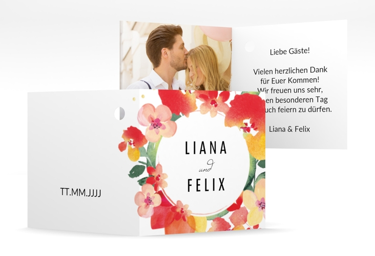 "Geschenkanhänger Hochzeit ""Exotic"" Geschenkanhänger 10er Set weiss"