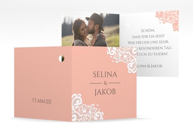 """Geschenkanhänger Hochzeit """"Vintage"""" Geschenkanhänger 10er Set apricot"""