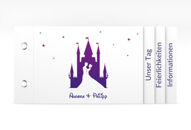 """Hochzeitseinladung """"Castle"""" Booklet"""
