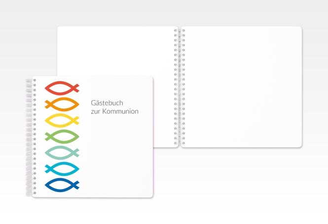 """Gästebuch Kommunion """"Pisces"""" Ringbindung"""