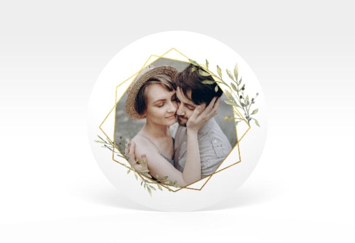 """Aufkleber Hochzeit """"Acacia"""" Aufkleber, selbstklebend, rund"""