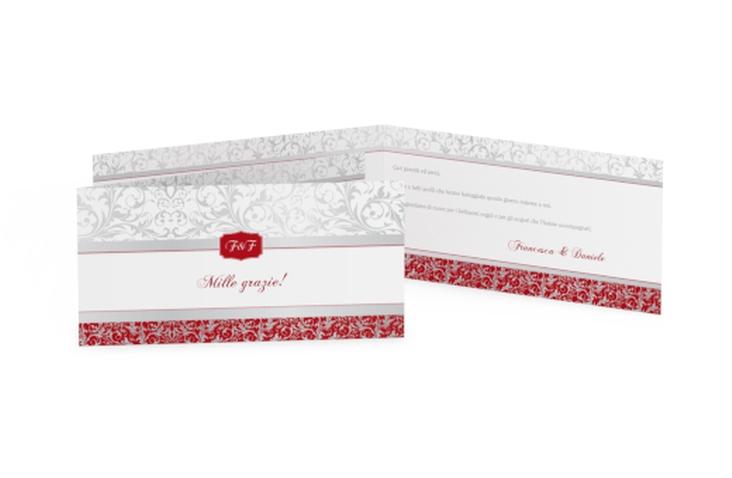 Ringraziamenti matrimonio collezione Latina DIN lang Klappkarte rosso