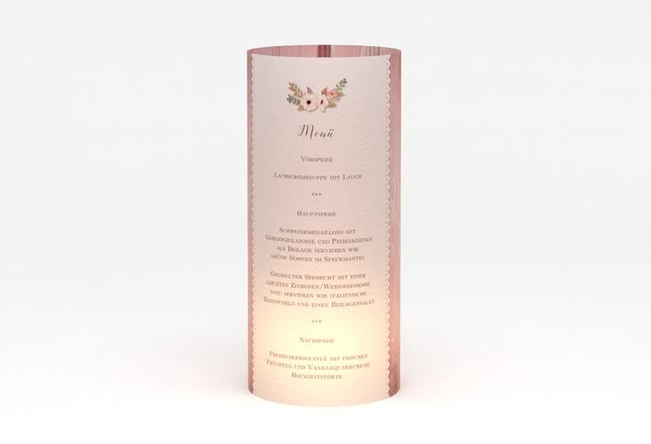 """Windlicht Menü Hochzeit """"Heimatjuwel"""" Windlicht rosa"""
