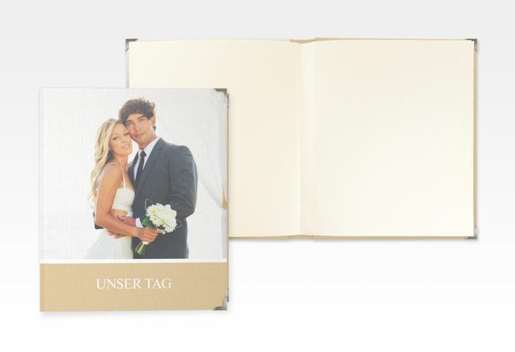 """Hochzeitsalbum """"Balance"""" 21 x 25 cm beige"""