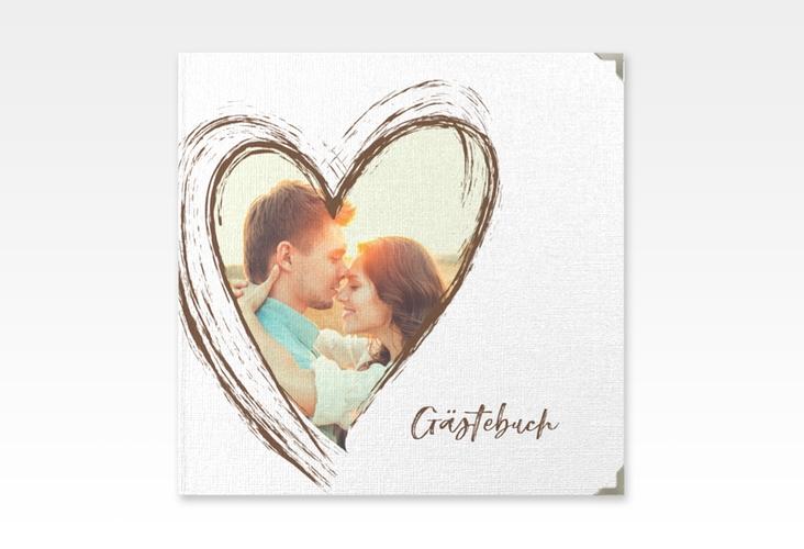"""Gästebuch Selection Hochzeit """"Liebe"""" Hardcover braun"""