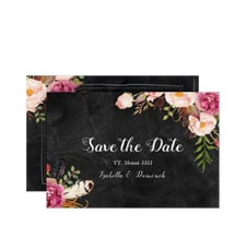 "Save the Date-Karte ""Flowers"""