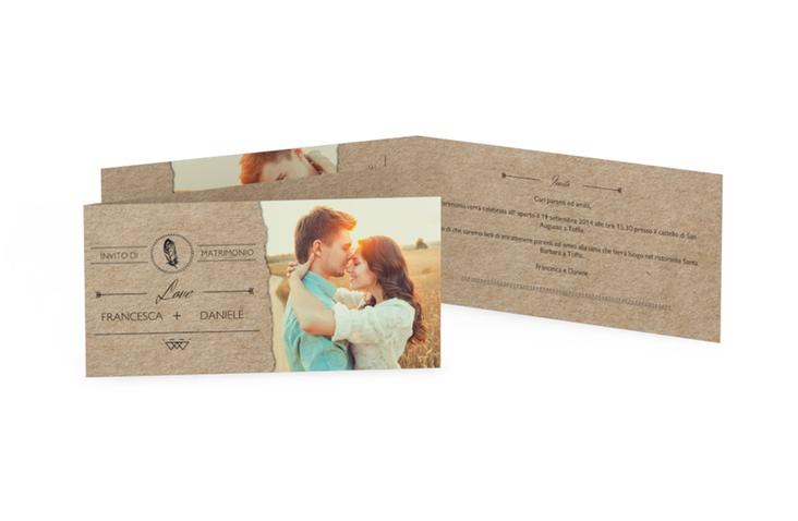 Inviti matrimonio collezione Colorado DIN lang Klappkarte