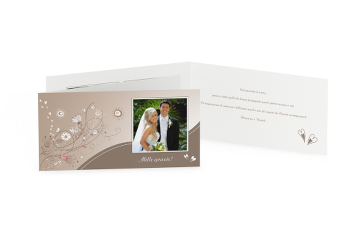 Ringraziamenti matrimonio collezione Taranto DIN lang Klappkarte