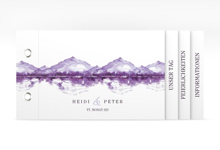 """Hochzeitseinladung """"Bergliebe"""" Booklet lila"""
