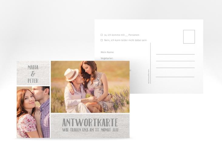 """Antwortkarte Hochzeit """"Landliebe"""" A6 Postkarte weiss"""